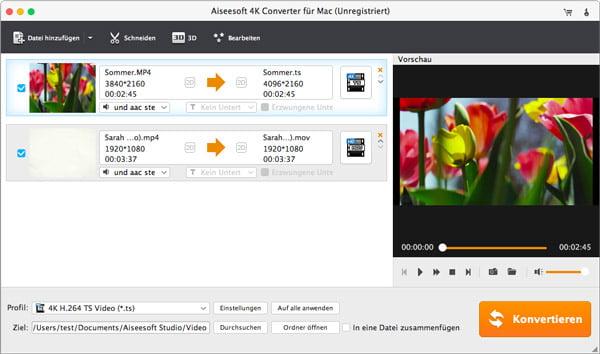 Aiseesoft 4K Converter für Mac