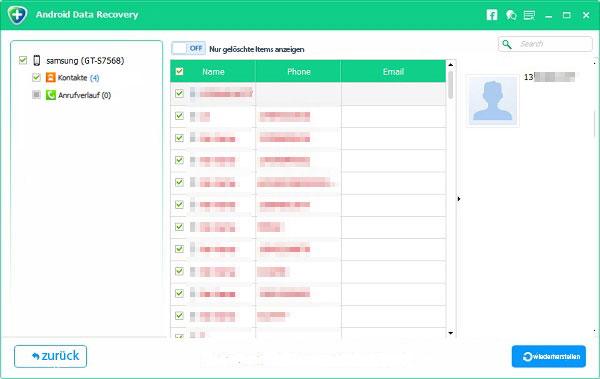 Android gelöschte Kontakte wiederherstellen (einfach & kostenlos)