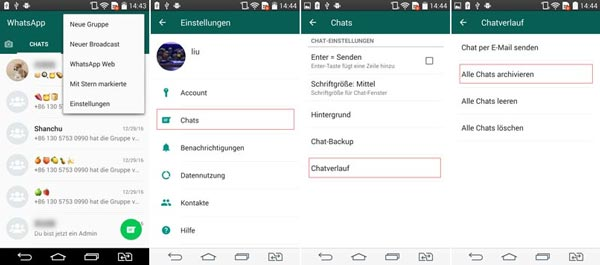 Whatsapp alle chats archivieren iphone