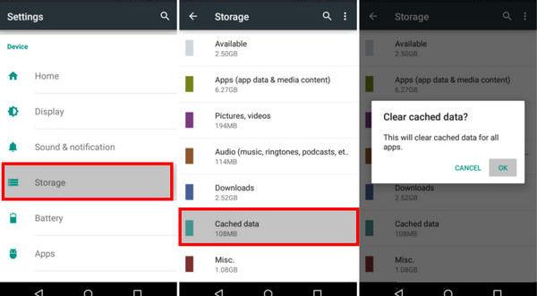 google chrome app clear cache