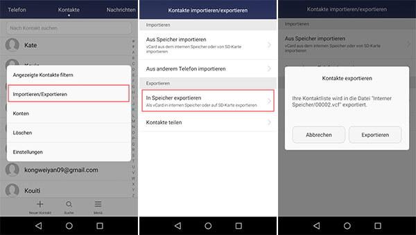 kontakte sichern android google