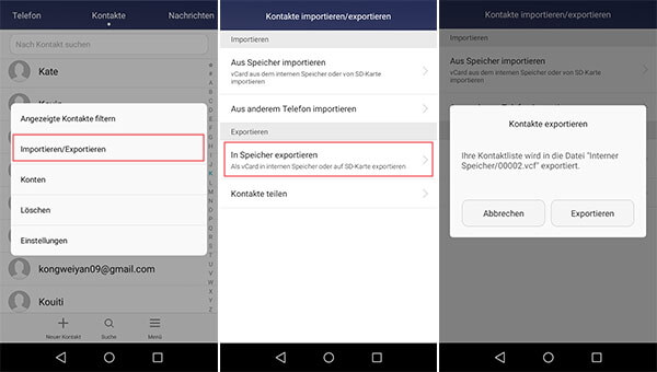 android kontakte auf pc
