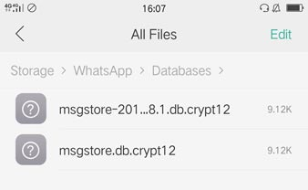 WhatsApp-Chat-Backup von Android finden