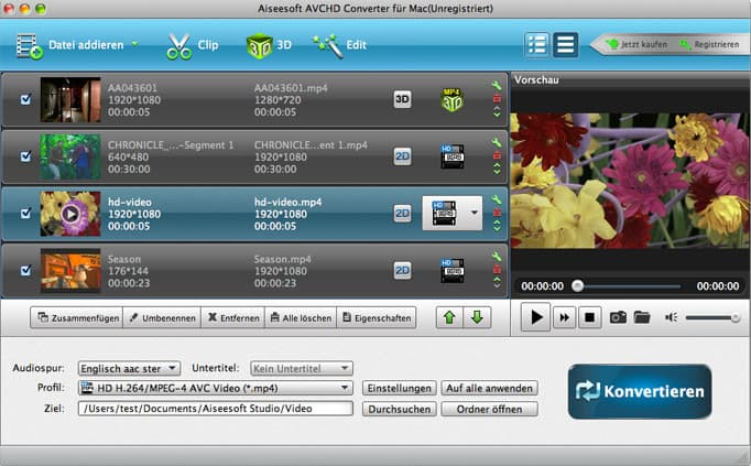 Aiseesoft AVCHD Converter für Mac