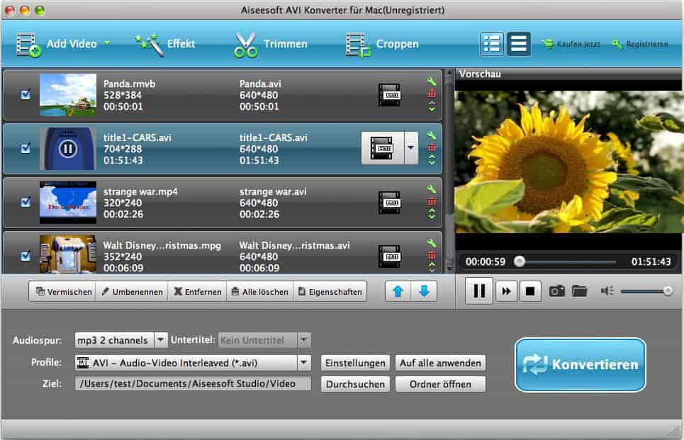 Aiseesoft AVI Converter für Mac