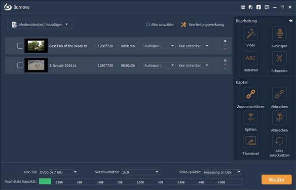 Aiseesoft Burnova interface