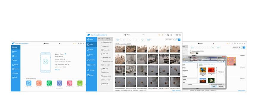 Przesyłanie danych z komputera PC do urządzenia z systemem iOS
