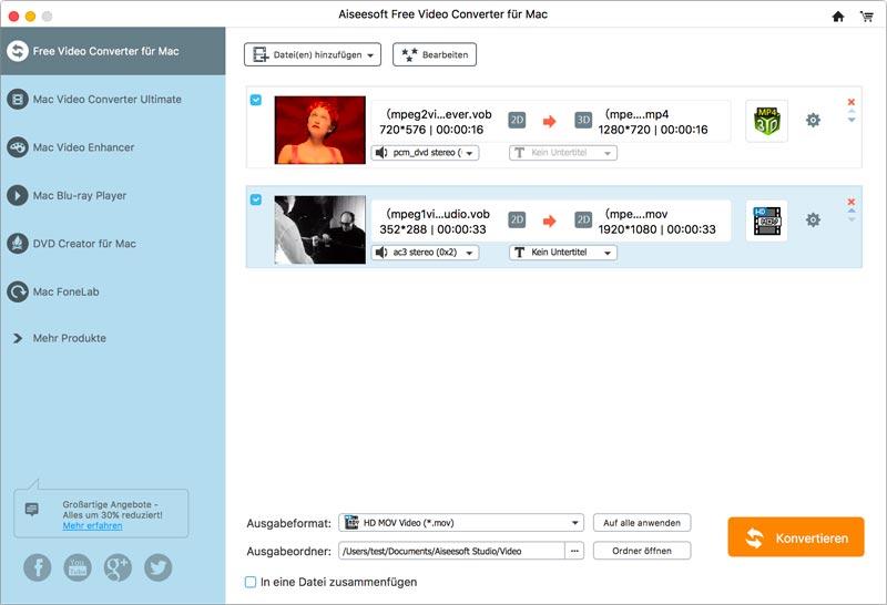 Aiseesoft Free Video Converter für Mac