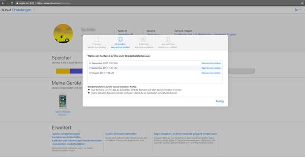 Pulihkan kontak yang dihapus iPhone di iCloud.com