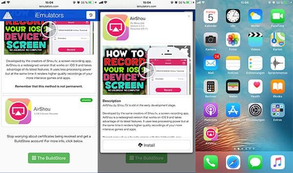 Bildschirm Aufnehmen Iphone App