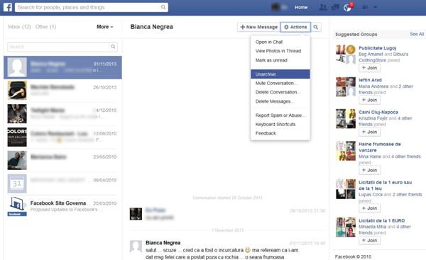 Facebook Archivierte Nachrichten Wiederherstellen