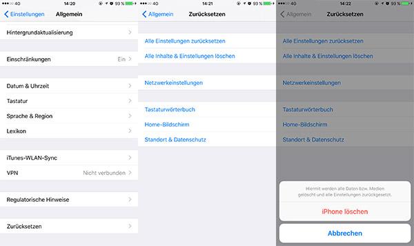Iphone Komplett Neu Aufsetzen