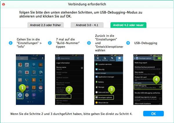 Wie kann man mit Android File Transfer Android Daten übertragen