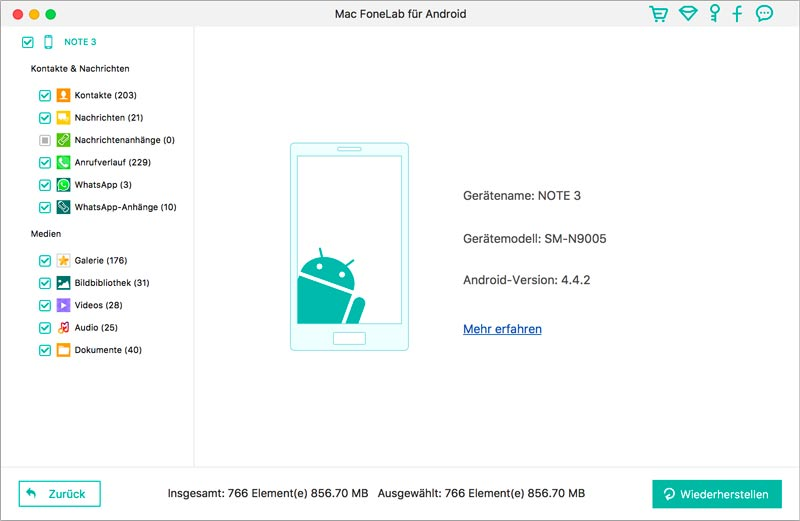 Mac FoneLab - Android Datenrettung