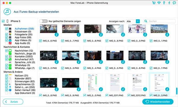 Aiseesoft Mac FoneLab - iPhone Datenrettung