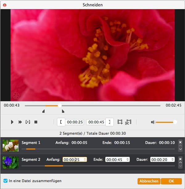 Videoclips zusammenzufügen