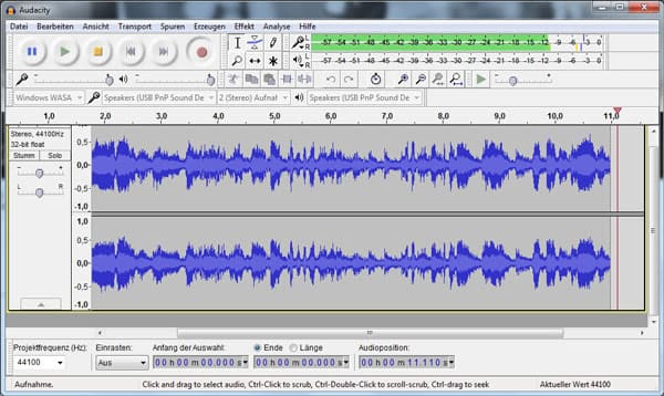 how to record live streaming audio with audacity