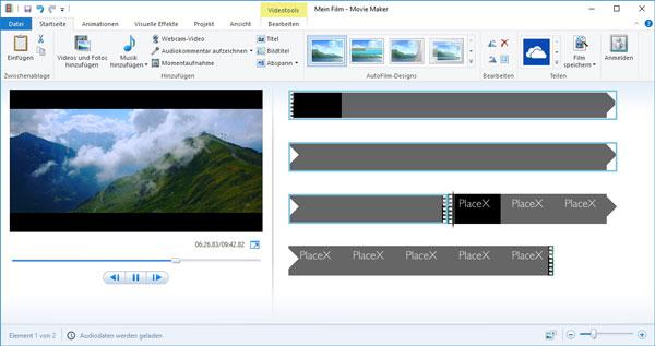 Movie Maker Videos Zusammenfügen