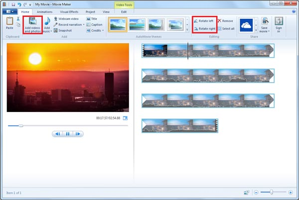 Mit Windows Movie Maker MP4-Datei bearbeiten