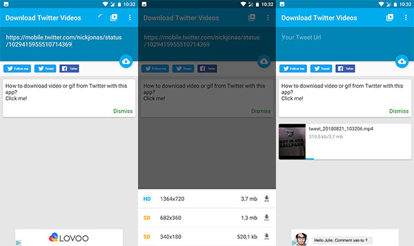 Twitter Videos auf Android downloaden