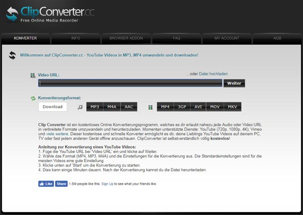 Video Grabber Alternative - Clip Converter