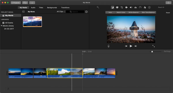 Mit iMovie MP4 Video bearbeiten