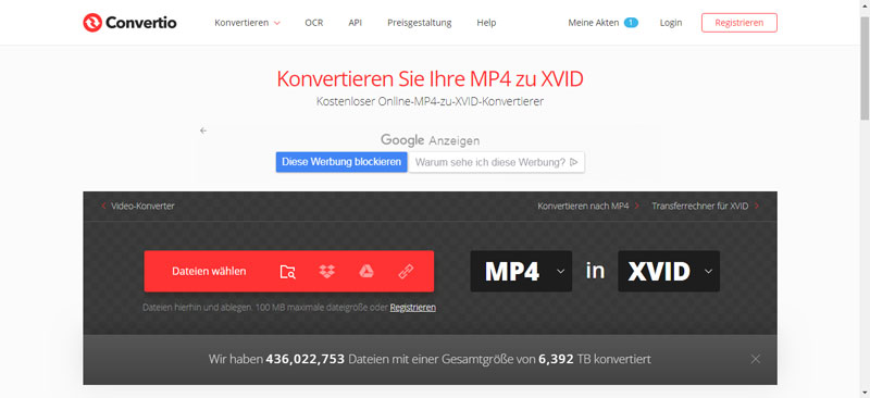 MP4 to XviD Converter: MP4 in XviD einfach umwandeln