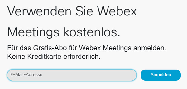 WebEx-Meeting beitreten